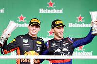 Max Verstappen et Pierre Gasly font, pour Red Bull, un carton plein sur le podium du GP du Brésil, le dernier de la saison.