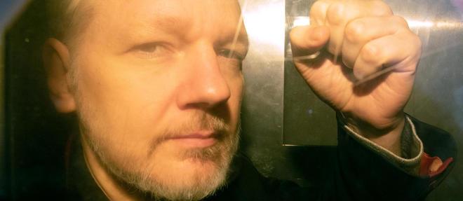 Julian Assange a ete arrete le 11 avril 2019 a Londres.