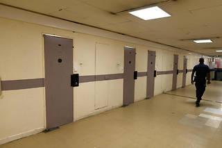 Couloir de la prison de Poissy, le 14 août 2019 (Photo d'illustration).