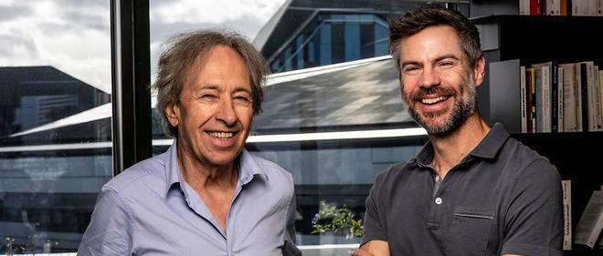 L'essayiste Pascal Bruckner et l'écologiste pro-nucléaire Michael Shellenberger, dans les locaux du «Point».