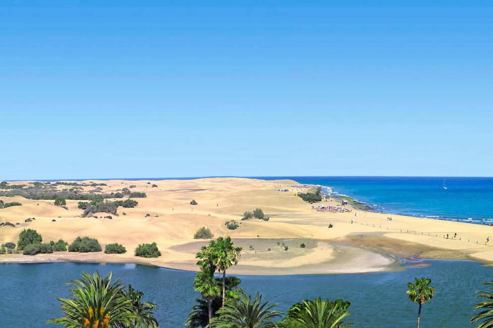 <p>Les Dunes de Maspalomas, au sud de Grande Canarie, offrent une escapade hors du temps à ses visiteurs.</p>