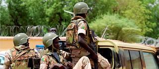 Des soldats maliens dans les rues de Gao, au Mali, le 24 juillet 2019.