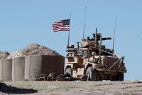 Un véhicule militaire américain près de Manbij, dans le nord de la Syrie.