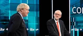 Le débat entre Boris Johnson et Jeremy Corbyn était organisé à Salford, dans le nord-ouest de l'Angleterre.