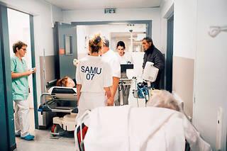 Les urgences du centre hospitalier de Privas, en Ardèche.  ©Sébastien Leban