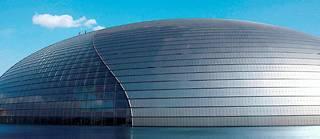 Saint-Gobain fournit des matériaux pour de nombreux projets dans le monde, notamment à Pékin, en Chine, avec le Grand Théâtre national imaginé par l'architecte français Paul Andreu.  ©LUDOVIC/REA