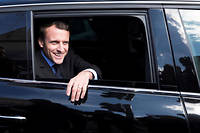 Emmanuel Macron en 2017 à Amiens.