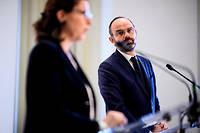 Agnès Buzyn et Édouard Philippe dévoilent le plan pour l'hôpital public, le 20 novembre 2019.