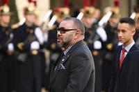 Le roi Mohammed VI et le prince héritier Moulay Hassan.