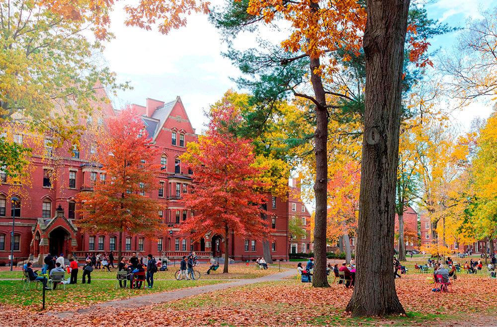 Symbole. Le campus historique de Harvard se dresse depuis 1636àCambridge, près de Boston, dans leMassachusetts.