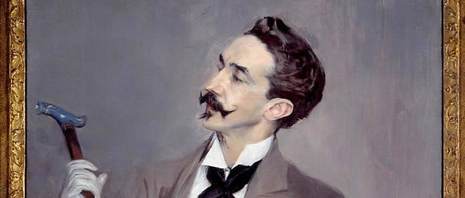 """""""Portrait du comte Robert de Montesquiou (1855-1921), écrivain dandy francais"""", par Giovanni Boldini (1842-1931)."""