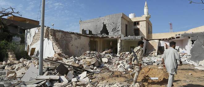 Tripoli, le 14 octobre, après une attaque aérienne des forces d'Haftar.