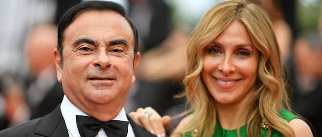 Carole et Carlos Ghosn à Cannes en 2017.