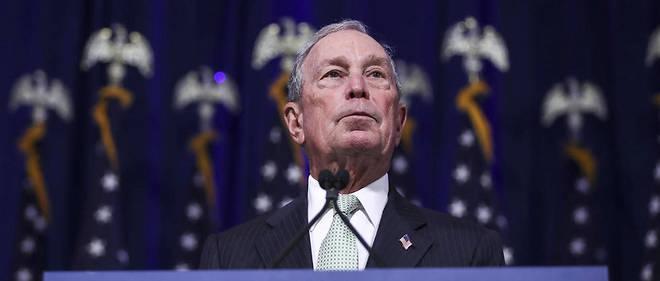 Michael Bloomberg annonçant sa candidature à l'investiture démocrate.
