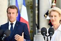 <p>Emmanuel Macron et Ursula von der Leyen le 23 juillet 2019 à l'Élysée.</p>
