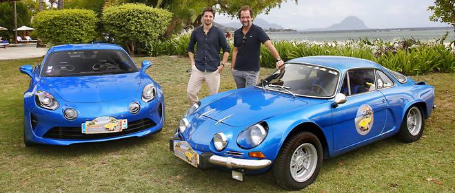 L'ancienne et la moderne chez Alpine se partagent les faveurs des comédiens Raphaël Personnaz et Stéphane De Groodt, lui-même excellent pilote jusqu'en 2000.