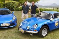 <p>L'ancienne et la moderne chez Alpine se partagent les faveurs des comédiens Raphaël Personnaz et Stéphane De Groodt, lui-même excellent pilote jusqu'en 2000.</p>