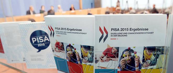 Lors de la présentation du rapport PISA 2015.