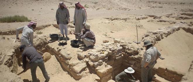 C'est sur le site d'Humaymah, dans le sud de la Jordanie, fouillé depuis plus de trente ans, qu'a été retrouvée la figurine.