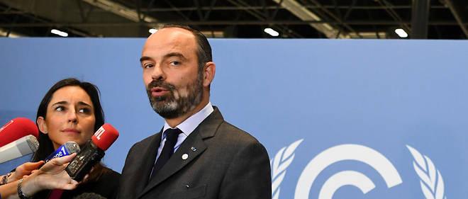 Édouard Philippe et Brune Poirson à l''ouverture de la 25e conférence internationale pour le climat, à Madrid.