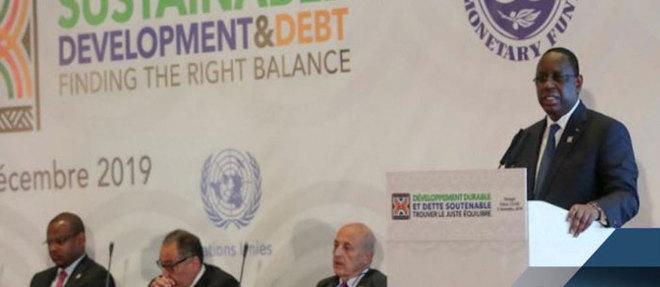 Le président Macky Sall lors de la conférence de Dakar le 2 décembre sur le thème