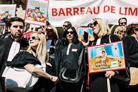Les professions libérales manifestaientcontre la réforme des retraites à Paris, le16 septembre 2019.