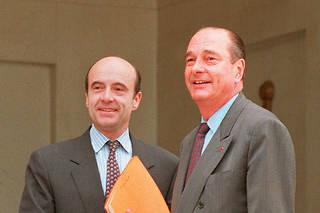 Alain Juppé et Jacques Chirac en 1995.