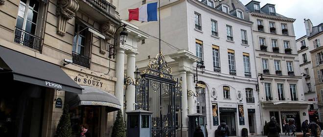 Le ministère de l'Intérieur, place Beauvau à Paris.