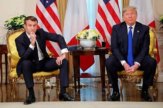 Le président Emmanuel Macron avec leprésident américainDonald Trump, le 3 décembre, lors de leur rencontre àWinfield House à Londres, à la veille du sommet de l'Otan