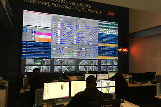 Le centre opérationnel d'escale de la gare du Nord à Paris gère les lignes H et K du Transilien, mais aussi, en période de grève, le nord du RER B.