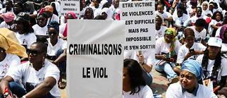 Des manifestantes lors d'unsit-in contre les violences sexuelles à Dakar, le 25 mai 2019.