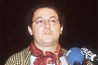 Coluche lors de sa candidature à l'élection présidentielle 1981.
