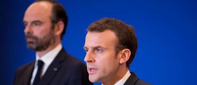 Le président Emmanuel Macron et le Premier ministre Édouard Philippe au tournant du quinquennat.