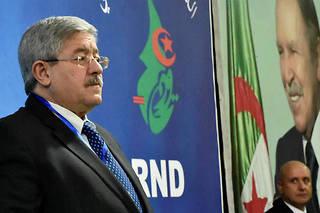 Le Premier ministre Ahmed Ouyahia lors d'une réunion du Rassemblement national démocratique (RND) le 31 janvier 2019 à Alger.