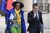 Sibeth Ndiaye et Gérald Darmanin