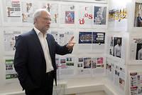 Laurent Joffrin dans les locaux de « Libération ».