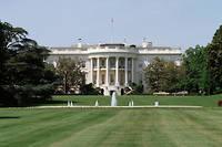 Vue de la Maison-Blanche, residence officielle et le bureau du president des Etats Unis.