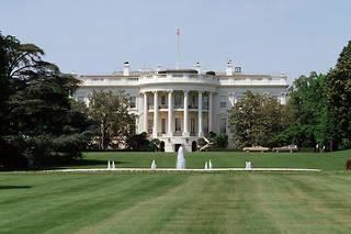 Vue de la Maison-Blanche, résidence officielle et le bureau du président des États-Unis.