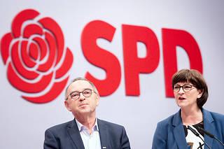 Norbert Walter-Borjans et Saskia Esken, les deux nouvelles têtes du SPD
