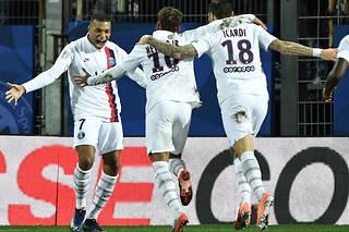 Le Paris Saint-Germain (1er) signe une quatrième victoireconsécutivegrâce àson succèssur la pelouse de Montpellier (1-3).