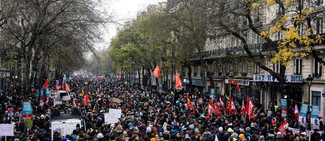 À Paris,la manifestation partiraà 13 h 30de la place Vauban, dans le 7earrondissement,direction Denfert-Rochereau (14e). Photo d'illustration.