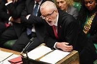 <p>Jeremy Corbyn au Parlement le 18 octobre.</p>