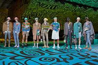 Le final de la collection pre-fall masculine de Dior, à Miami le 3 décembre
