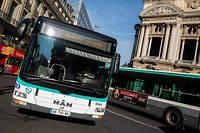 Parmi les dépôts bloqués figurent celui de Lagny, dans l'Est parisien, celui d'Asnières ou encore celui d'Aubervilliers, a précisé unporte-parole de la RATP à l'Agence France-Presse (photo d'illustration).