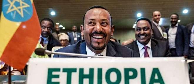 Abiy Ahmed au siège de l'Union africaine à Addis-Abeba, en Éthiopie, le 17 janvier dernier.