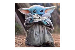 Baby Yoda et la nouvelle Air Dior, un détournement Instagram .