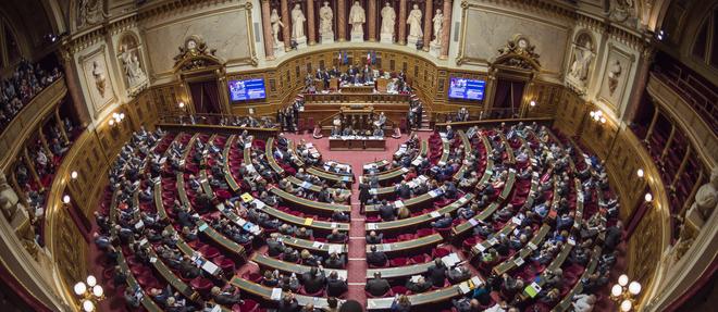 L'hémicycle du Palais du Luxembourg. Les sénateurs touchent en moyenneune retraite de 3 856 euros (2018)