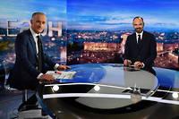 Édouard Philippe sur le plateau du 20 heures de TF1.
