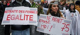 Dans une manifestation parisienne le 12 décembre 2019.