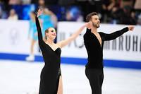Gabriella Papadakis et Guillaume Cizeron, lors des championnats du monde à Saitama, en mars.